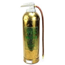Brass fire extinguisher with Homestake Mining Co.
