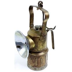 Brass carbide miners lamp