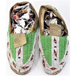 Sioux fully moccasins C. 1890-1900