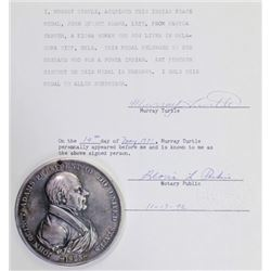 John Quincy Adams Indian peace medal