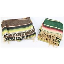Collection of 2 early Mexican blankets