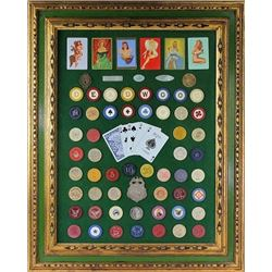 Nicely accomplished Deadwood poker chip display