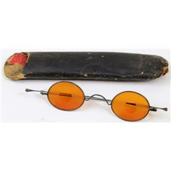 Civil war amber tinted sharp shooters glasses
