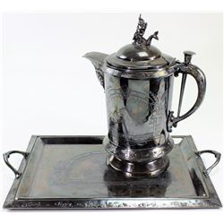 Victorian Meriden sterling silverplated ice water
