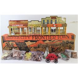 Vintage tin Silver City Frontier Town childs toy