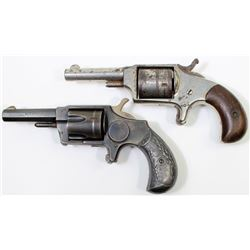 Collection of 2 non working antique revolvers
