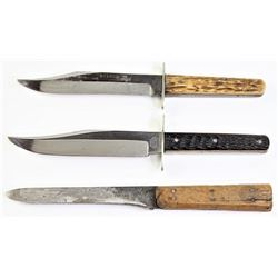Collection of 3 knives includes