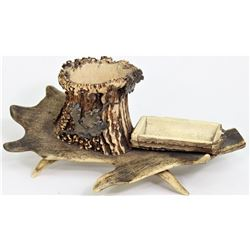 C. 1920's antler smokers set for cigars