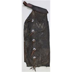 Early CP Shipley batwing chaps stamped on the belt