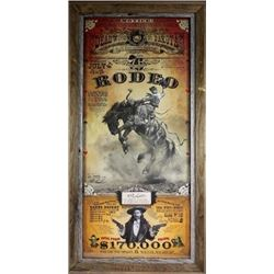 Deadwood rodeo poster by noted western