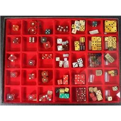 Collection of various gambling dice