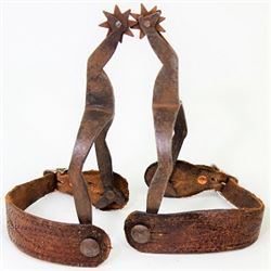 Unmarked hand forged lady leg spurs