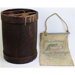 Collection of 2 includes antique 2 gallon wood