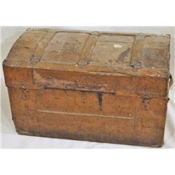 "Antique dome top trunk, 16"" X 17"" X 30"""