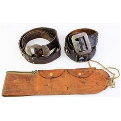 Collection of 3 includes leather money belt