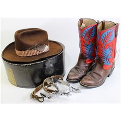 Collection of 3 includes Redwing cowboy boots size