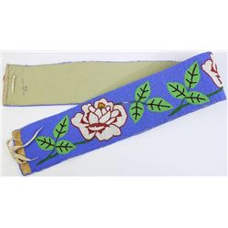 Nicely beaded belt with floral motif