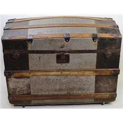 Large dome top travel trunk