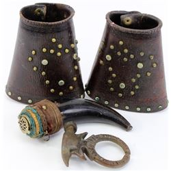 Collection of 3 includes horn container, Atomic