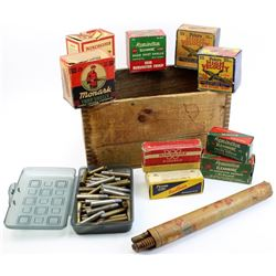 Collection of 7 vintage empty ammo boxes,