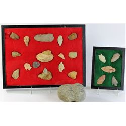 Collection of Plains stone artifacts.