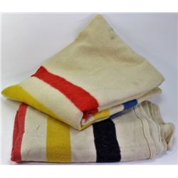 Collection of 2 Pendleton camp blankets.