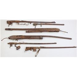 Collection of 6 burned relic guns.