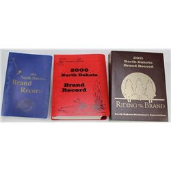3 North Dakota Brand books, 1996,