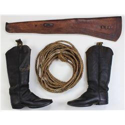 Collection of 3 western frontier items includes