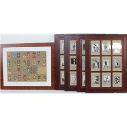 Collection of 4 framed boxing cards