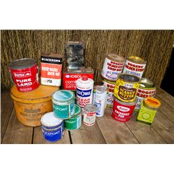 Lot of old tins