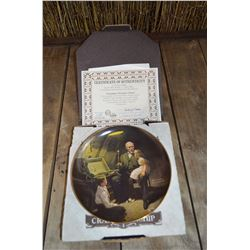 """Grandpa's Treasure Chest"" by Norman Rockwell; Collector Plate"