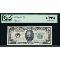 1934A $20 Richmond Federal Reserve Note PCGS 65PPQ