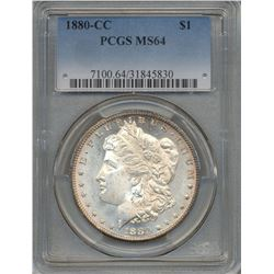 1880-CC $1 Morgan Silver Dollar Coin PCGS MS64