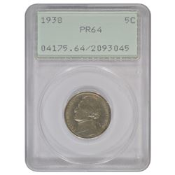 1938 Jefferson Nickel PCGS PR64