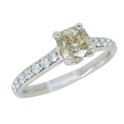 14KT White Gold 1.37ctw GIA Cert Diamond Ring