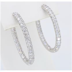 18KT White Gold 2.58ctw Diamond Earrings