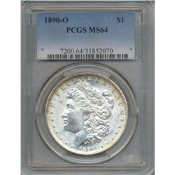1890-O $1 Morgan Silver Dollar Coin PCGS MS64