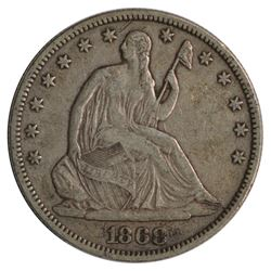 1868 Seated Liberty Half Dollar Coin