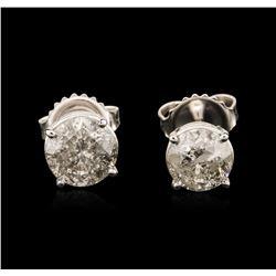14KT White Gold 1.83 ctw Diamond Stud Earrings