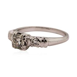 0.50 ctw Diamond lady's Vintage Wedding Ring - 14KT White Gold