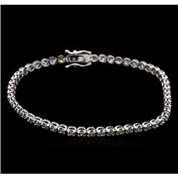 2.20 ctw Diamond Tennis Bracelet - 14KT White Gold