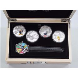 $20 Looney Tunes - Pure Silver 4-Coin Set with Watch. Archived at the Royal Canadian Mint.