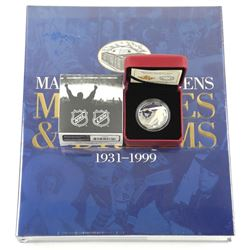 Sold Out - Toronto Maple Leafs - Memories and Dreams Book (Sealed) and $10 Fine Silver Coin.