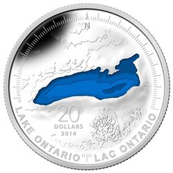 $20 Fine Silver Coin - The Great Lakes: Ontario. Royal Canadian Mint, Limited Edition.