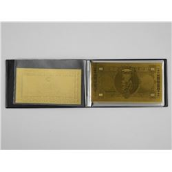 24kt Gold Banknote Collection. Italy - Lire 8 Note