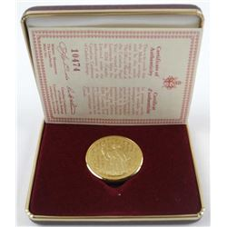 The Official Medal of the Canadian Papal Visit.