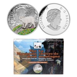 RCM - 'The Mountain Goat' Stamp and Coin Set, with