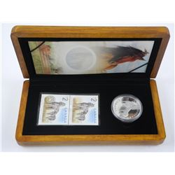 9999 Fine Silver $5.00 Coin with Proof Stamps