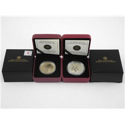 Lot (2) .9999 Fine Silver Coins - 5.00 and 10.00 '